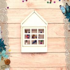 Шейкер Имбирное Рождество Новогодний Домик с окном (большой)