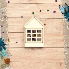 Шейкер Имбирное Рождество Новогодний Домик с окном (маленький)