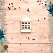 Шейкер Имбирное Рождество Новогодний Домик с окном (мини)
