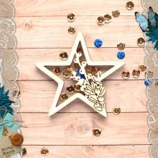 Шейкер Имбирное Рождество Новогодняя Звезда (маленький)