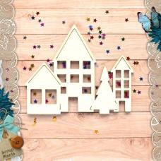 Шейкер Новогодние традиции Новогодние Домики с елкой (большой)