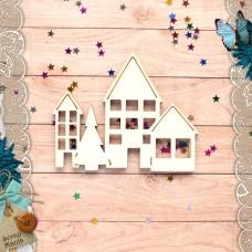 Шейкер Новогодние традиции Новогодние Домики с елкой  (маленький)