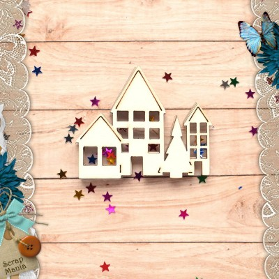 Шейкер Новогодние традиции Новогодние Домики с елкой (мини)