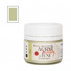 Акриловая краска Acryl hobby deLuxe, оливковый