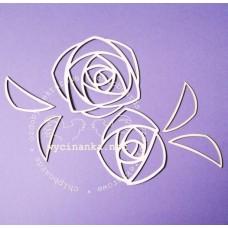 Чипборд azurowe roze