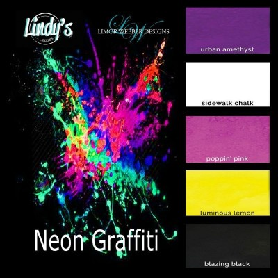 Набор сухих красок — пигментов Neon Graffiti Flat Magicals