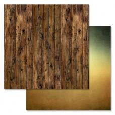 Бумага для скрапбукинга Дембельский альбом — Доски 30,5 Х 30,5