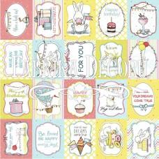 Бумага для скрапбукинга Bunny birthday party 2