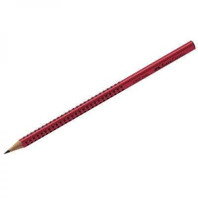 Карандаш деревянный трегранный заточенный красный Grip 2001 (B)
