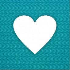 Заготовка альбома Сердце — 6шт