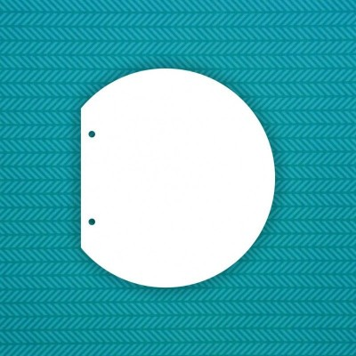 Заготовка альбома Полукруг (2 отверстия) — 6шт