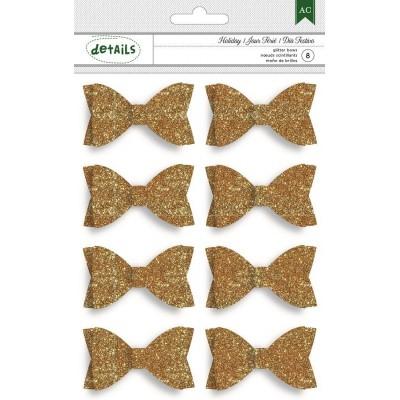 Набор украшений Gold Glitter Bows
