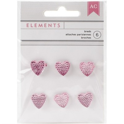 Набор брадсов Pink Hearts