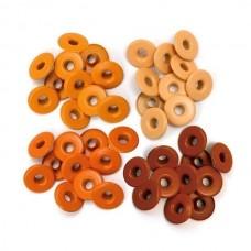 Набор широких люверсов, оранжевые