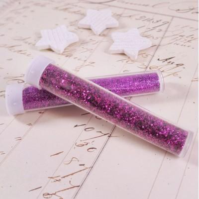 Блестки фиолетовые в колбе