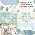 Бумага для скрапбукинга Зимние карточки 1 30,5 х 30,5 см