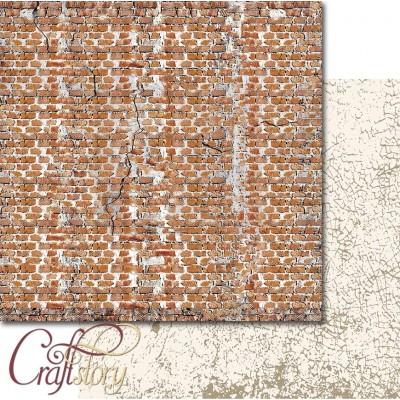 Бумага для скрапбукинга Кирпичная стена 30,5 х 30,5 см
