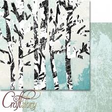 Бумага для скрапбукинга Зимний лес 30,5 х 30,5 см