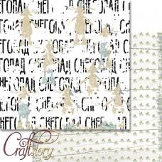 Бумага для скрапбукинга Снегопад 30,5 х 30,5 см