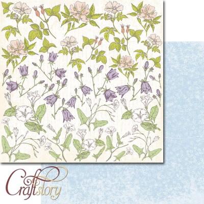 Бумага для скрапбукинга Полевые цветы 30,5 х 30,5 см