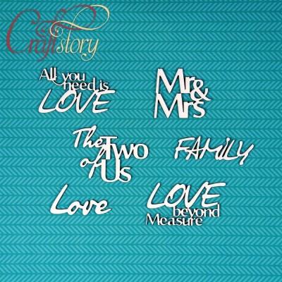 Чипборд Фразы Love 2