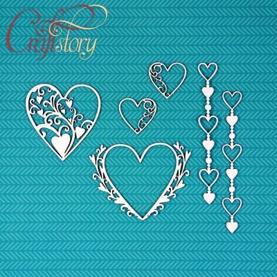 Чипборд Набор с сердечками