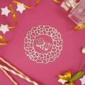 Чипборд Рамка из цветов