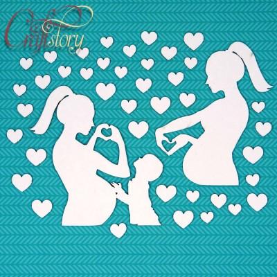 Чипборд Мама и малыш