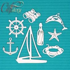 Чипборд Морской набор