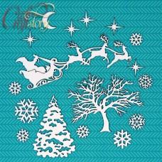 Чипборд Рождественская Ночь