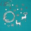 Чипборд Набор с оленями 2