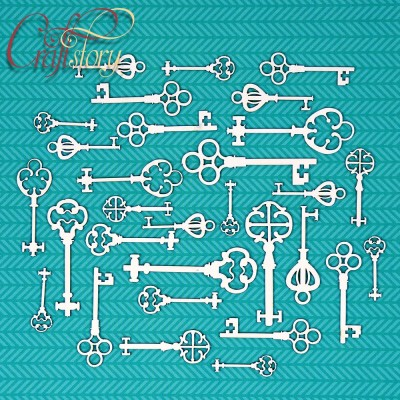 Чипборд Старинные ключи