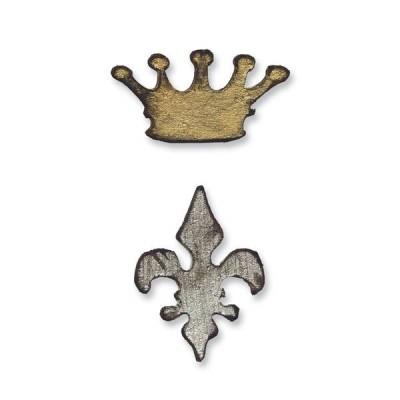 Нож для вырубки Magnetic Die Set 2PK - Mini Crown & Fleur Set