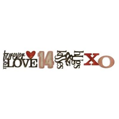 Нож для вырубки Stacked Words: Valentines