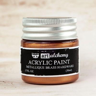 Акриловая краска Art Alchemy — Metallique Brass Hardware