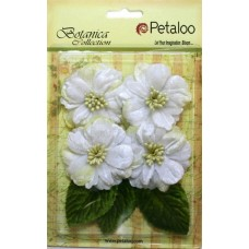 Набор бархатных цветов Vintage Vilvet Peonies — White