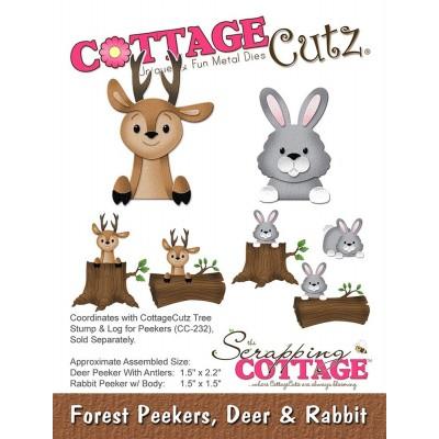 Нож для вырубки Forest Peekers, Deer Rabbit Олень и кролик