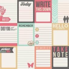 Бумага для скрапбукинга Notecards
