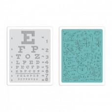Папки для тиснения Eye Chart and Formulas Set