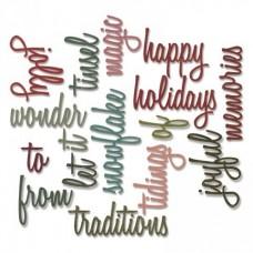 Нож для вырубки Holiday Words 2: Script