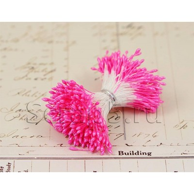 Тычинки ярко-розовые, 288 шт