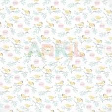 Бумага для скрапбукинга Пение птиц 30,5 x 30,5