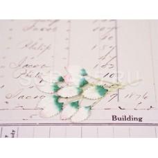 Листья, бело-зеленые (10 шт.)