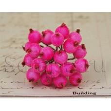 Ягодки в обсыпке, ярко-розовые