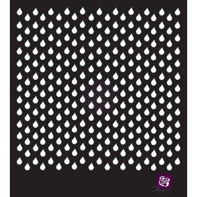 Маска-трафарет 6x6 Stencil — Raindrops