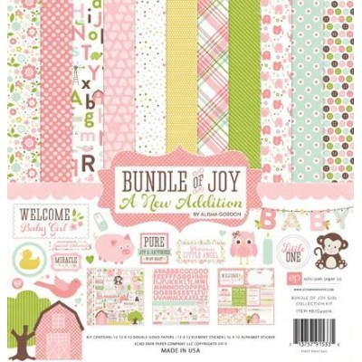 Набор бумаги Bandle of Joy Girl New Addition