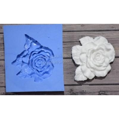 Молд Роза с листиками