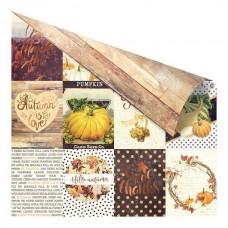 Бумага с фольгированием для скрапбукинга Pumpkin season