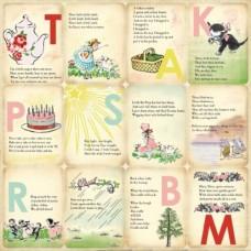 Бумага для скрапбукинга Girl Nursery Rhymes