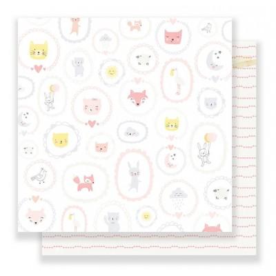Бумага для скрапбукинга Baby Girl 30,5 х 30,5